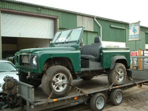 land rover salvage